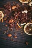 Предпосылка шоколадов Стоковое фото RF