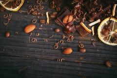 Предпосылка шоколадов Стоковое Изображение
