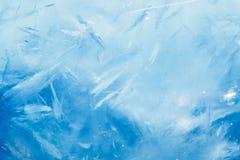 Предпосылка льда, голубая текстура стоковое изображение