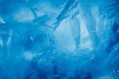 Предпосылка льда, голубая текстура стоковая фотография