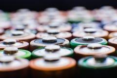 Предпосылка энергии абстрактная красочных батарей Стоковые Изображения RF
