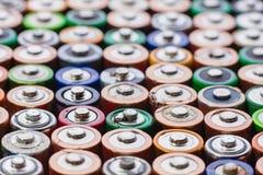 Предпосылка энергии абстрактная красочных батарей Стоковое фото RF