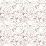 Предпосылка элегантного цветка безшовная Комплект бронзы Стоковые Фото