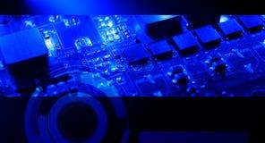 Предпосылка электроники технологии Стоковое Фото