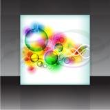 Предпосылка элемента дизайна рогульки или крышки вектора Стоковое Изображение