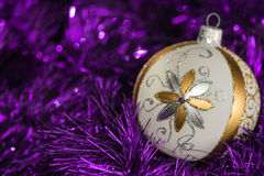 Предпосылка элементов украшения рождественской елки Нового Года Стоковая Фотография