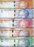 Предпосылка южно-африканского ранда Стоковое Фото