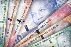 Предпосылка южно-африканского ранда Стоковая Фотография