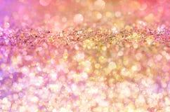 Предпосылка яркого блеска зарева золота Стоковое Изображение
