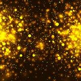 Предпосылка яркого блеска золота вектора накаляя светлая Волшебство Chrisrmas золотое освещает предпосылку Стоковые Фото