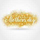 Предпосылка яркого блеска золота дня матери Стоковое фото RF
