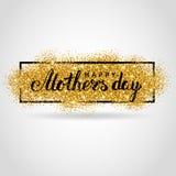 Предпосылка яркого блеска золота дня матери Стоковое Изображение RF