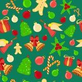Предпосылка яркого рождества безшовная иллюстрация вектора