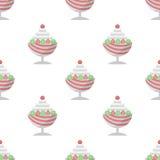 Предпосылка для десерта мороженого Стоковое Изображение RF