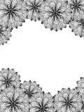 Предпосылка для карточки с простые линейные картины циркуляра Стоковое Изображение