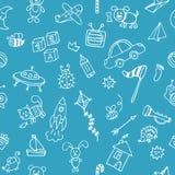 Предпосылка для милых мальчиков Нарисованный рукой se чертежей детей Стоковое Фото