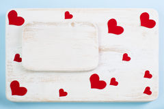 Предпосылка для объявлений влюбленности на день валентинки Стоковые Изображения RF