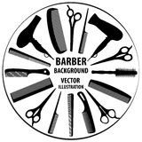 Предпосылка для парикмахера и парикмахера Стоковое фото RF