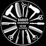 Предпосылка для парикмахера и парикмахера Стоковое Изображение RF