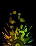 Предпосылка для рогульки события музыки Стоковое Изображение