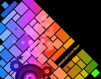 Предпосылка для рогульки события музыки Стоковое фото RF