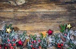 Предпосылка для с Рождеством Христовым рождественской открытки Стоковое Изображение