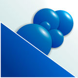 Предпосылка для текста с голубыми кругами видит Стоковое Фото