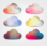 Предпосылка Abstarct с значками облака Стоковые Изображения