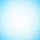 Предпосылка Abstraktnyyj с сериями белых лучей против голубого неба Спиральное движение геометрических форм Стоковые Фото