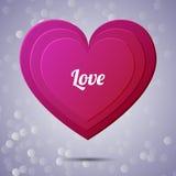 Предпосылка applique сердца Иллюстрация вектора для Стоковая Фотография