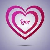 Предпосылка applique сердца Иллюстрация вектора для Стоковая Фотография RF