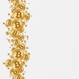 Предпосылка Bitcoins Стоковая Фотография