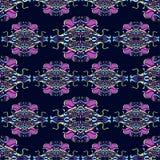 Предпосылка Boho с флористическими элементами Стоковые Изображения