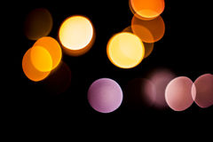 Предпосылка Bokeh - абстрактная ноча Стоковая Фотография