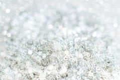 Предпосылка Bokeh зимы серебряная Стоковое фото RF