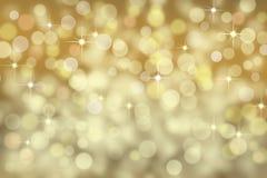 Предпосылка bokeh золота с sparkles стоковое фото