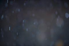 Предпосылка Bokeh дождя Стоковая Фотография