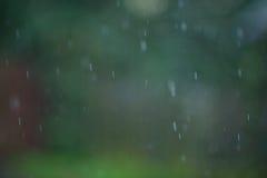 Предпосылка Bokeh дождя Стоковое Изображение