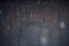 Предпосылка Bokeh дождя Стоковое Изображение RF