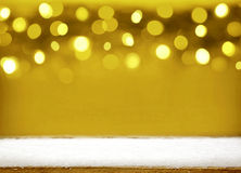 Предпосылка bokeh рождества золотая Стоковое Фото