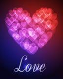 Предпосылка bokeh сердец Стоковое Изображение RF