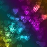 Предпосылка bokeh сердца влюбленности defocused бесплатная иллюстрация