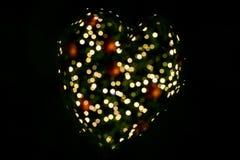 Предпосылка bokeh сердца Стоковая Фотография