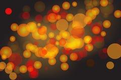 Предпосылка Bokeh с красными цветами и желтыми цветами Стоковые Изображения