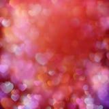 Предпосылка Bokeh с сердцами 10 eps Стоковая Фотография