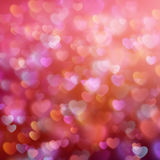 Предпосылка Bokeh с сердцами 10 eps Стоковое Изображение RF