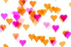 Предпосылка bokehs сердца Стоковые Фотографии RF