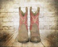 предпосылка boots вектор изображения grunge ковбоя графический Стоковое Изображение