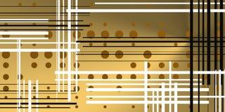 Предпосылка Brigth с кругами и линиями иллюстрация штока
