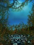 Предпосылка Checkboard с лозами и розами Стоковая Фотография RF